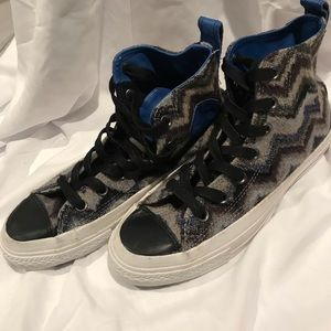 Converse x Missoni jack purcell high top sneakers